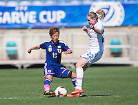 Faro, Portugal - March 11, 2015: Japan defeated Iceland 2-0 during placement game of the Algarve Cup.