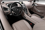 High angle dashboard view of a 2012 - 2014 Aston Martin Vanquish 2+2 Coupe.