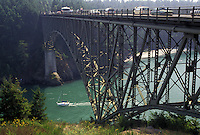 AJ3653, bridge, San Juan Island, Washington, Deception Pass State Park, Whidbey Island, Deception Pass Bridge crosses from the mainland to Whidbey Island in the state of Washington.