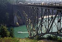 AJ3653, bridge, San Juan Island, Washington, Deception Pass State Park, Whidbey Island, Deception Pass Bridge crosses from the mainland to Whidbey Island in the state of Washington.