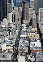 aerial photograph Bush Street San Francisco, California