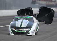 Feb 11, 2017; Pomona, CA, USA; NHRA pro stock driver Kenny Delco during qualifying for the Winternationals at Auto Club Raceway at Pomona. Mandatory Credit: Mark J. Rebilas-USA TODAY Sports