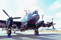 """Avro Lancaster Bomber (aka the """"Lanc"""" and the """"Dam Buster"""") on Static Display - at Abbotsford International Airshow, BC, British Columbia, Canada"""