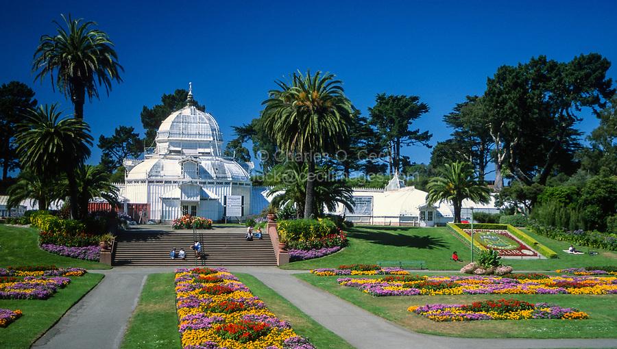San Francisco, California, USA. Golden Gate Park, Conservatory of Flowers.