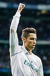 Cristiano Ronaldo of Real Madrid gestures during the UEFA Champions League 2017-18 quarter-finals (2nd leg) match between Real Madrid and Juventus at Estadio Santiago Bernabeu on 11 April 2018 in Madrid, Spain. Photo by Diego Souto / Power Sport Images