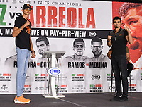 LOS ANGELES, CA - APRIL 29: Sebastian Fundora (L) and Jorge Cota attend the undercard press conference for the Andy Ruiz Jr. vs Chris Arreola Fox Sports PBC Pay-Per-View in Los Angeles, California on April 29, 2021. The PPV fight is on May 1, 2021 at Dignity Health Sports Park in Carson, CA. (Photo by Frank Micelotta/Fox Sports/PictureGroup)