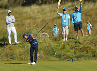 150719 | The 148th Open - Monday Practice<br /> <br /> Ricky Fowler of USA  tees off on the 8th hole during  during practice for the 148th Open Championship at Royal Portrush Golf Club, County Antrim, Northern Ireland. Photo by John Dickson - DICKSONDIGITAL