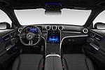Stock photo of straight dashboard view of 2022 Mercedes Benz C-Class AMG-Line 4 Door Sedan Dashboard