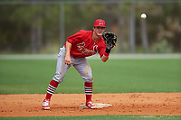 St. Louis Cardinals Dylan Tice (7) during a Minor League Spring Training intrasquad game on March 31, 2016 at Roger Dean Sports Complex in Jupiter, Florida.  (Mike Janes/Four Seam Images)