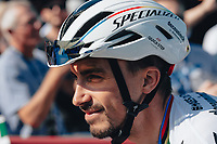 6th September 2021; Sherford to Exeter, Devon, England:  The AJ Bell Tour Of Britain, Stage 2 Sherford to Exeter. Julian Alaphilippe.