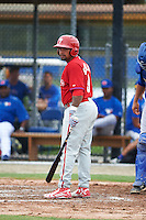 Philadelphia Phillies Deivy Grullon (9) during an instructional league game against the Toronto Blue Jays on September 28, 2015 at Englebert Complex in Dunedin, Florida.  (Mike Janes/Four Seam Images)