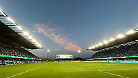 SAN JOSE, CA - AUGUST 17: PayPal Park during a game between Minnesota United FC and San Jose Earthquakes at PayPal Park on August 17, 2021 in San Jose, California.