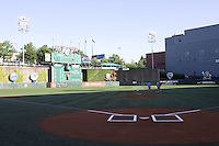 July 15, 2009: Members of the grounds crew water the base paths at PGE Park in Portland, Oregon, prior to the start of 2009 Triple-A All-Star Game. PGE Park is the home of the Portland Beavers, Triple-A Affiliate of the San Diego Padres.