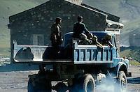 LKW in Ladakh (Jammu+Kashmir), Indien.