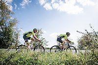 teammates Baptiste Planckaert (BEL/Wallonie Bruxelles) & Tom Wirtgen (LUX/Wallonie-Bruxelles) moving along in the breakaway group<br /> <br /> 60th Grand Prix de Wallonie 2019<br /> 1 day race from Blegny to Citadelle de Namur (BEL / 206km)<br /> <br /> ©kramon