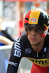 Belgian National Champion Philippe Gilbert (BEL) BMC Racing Team waits to start the Prologue of the 99th edition of the Tour de France 2012, a 6.4km individual time trial starting in Parc d'Avroy, Liege, Belgium. 30th June 2012.<br /> (Photo by Eoin Clarke/NEWSFILE)