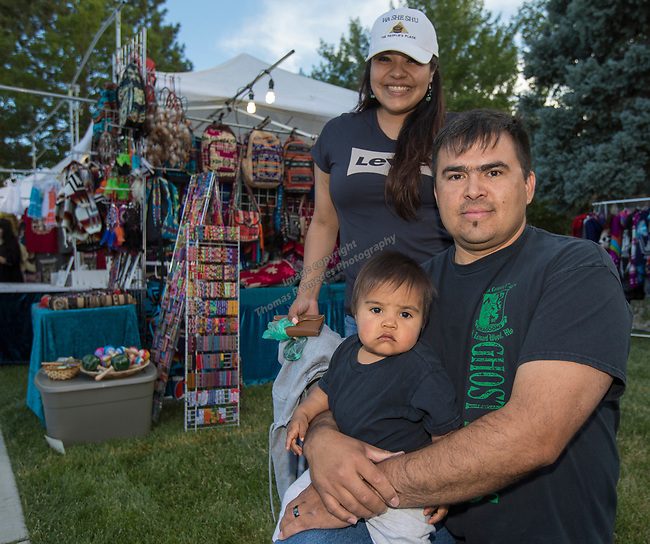 The Mortimer Family during the Stewart Father's Day Pow Wow in Carson City on Friday, June 16, 2017.