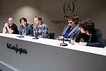 """The director of the festival, Luis Rosales, (L) american director of the film Jason Sheedy (C) and american producer Kyle Steinike during the press conference of the film """"Patient"""" during the Madrid International Fantastic Film Festival Nocturna in Madrid. May 25 2016. (ALTERPHOTOS/Borja B.Hojas)"""