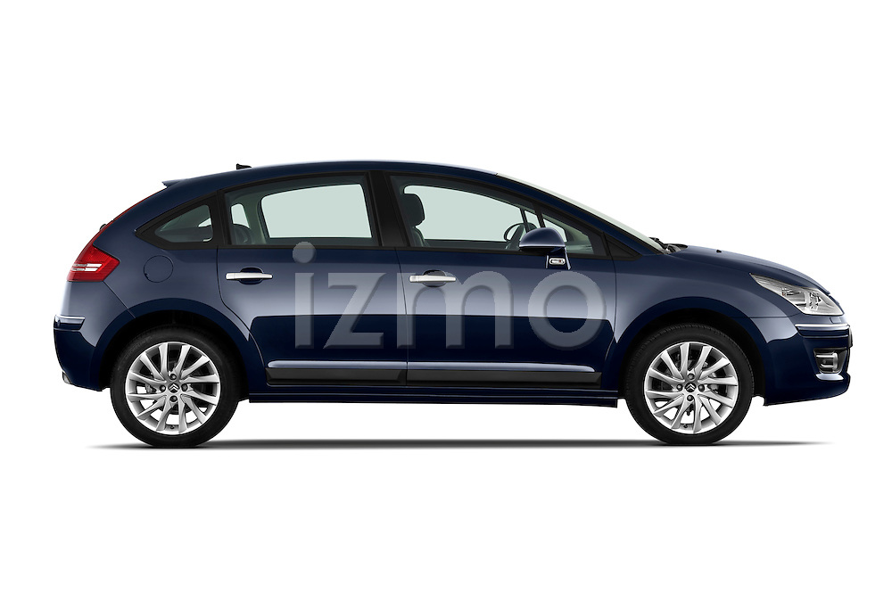 Passenger side profile view of a 2009 Citroen C4 Executive 5 Door Hatchback.
