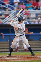Staten Island Yankees second baseman Nick Solak (59) at bat during a game against the Batavia Muckdogs on August 27, 2016 at Dwyer Stadium in Batavia, New York.  Staten Island defeated Batavia 13-10 in eleven innings.  (Mike Janes/Four Seam Images)