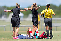 Bradenton, FL - Sunday, June 12, 2018: Canada staff prior to a U-17 Women's Championship 3rd place match between Canada and Haiti at IMG Academy. Canada defeated Haiti 2-1.
