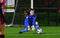 goalkeeper Ianthe Meerschaert (31) of Zulte-Waregem pictured during a female soccer game between Sporting Charleroi and SV Zulte-Waregem on the 12 th matchday of the 2020 - 2021 season of Belgian Scooore Womens Super League , friday 29 th of January 2021  in Marcinelle , Belgium . PHOTO SPORTPIX.BE | SPP | DAVID CATRY