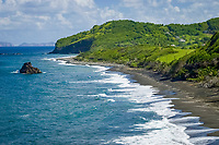 Windward (eastern) coast, St. Vincent, Caribbean, Atlantic