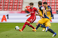 25th August 2020, Red Bull Arena, Slazburg, Austria; Pre-season football friendly, Red Bull Salzburg versus Liverpool FC;  Neco Williams FC Liverpool covered by Dominik Szoboszlai FC Red Bull Salzburg