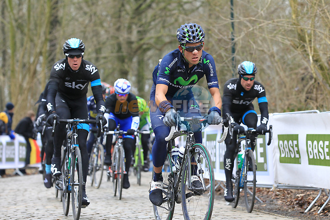 Riders climb Kemmelberg for the first time during the 75th edition of Gent-Wevelgem, Belgium, 24th  March 2013 (Photo by Eoin Clarke 2013)
