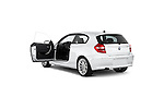 Rear three quarter door view of a 2007 - 2011 BMW 1-Series 123d 3 Door Hatchback 2WD.