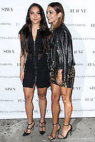 NEW YORK CITY, NY, USA - SEPTEMBER 03: Stella Hudgens and Vanessa Hudgens arrive at the Flaunt Magazine Distress Issue Launch held at Gilded Lily on September 3, 2014 in New York City, New York, United States. (Photo by Jeffery Duran/Celebrity Monitor)