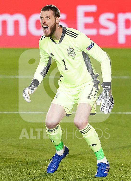 Spain's David de Gea during UEFA Nations League 2020 League Phase match. October 10,2020.(ALTERPHOTOS/Acero)