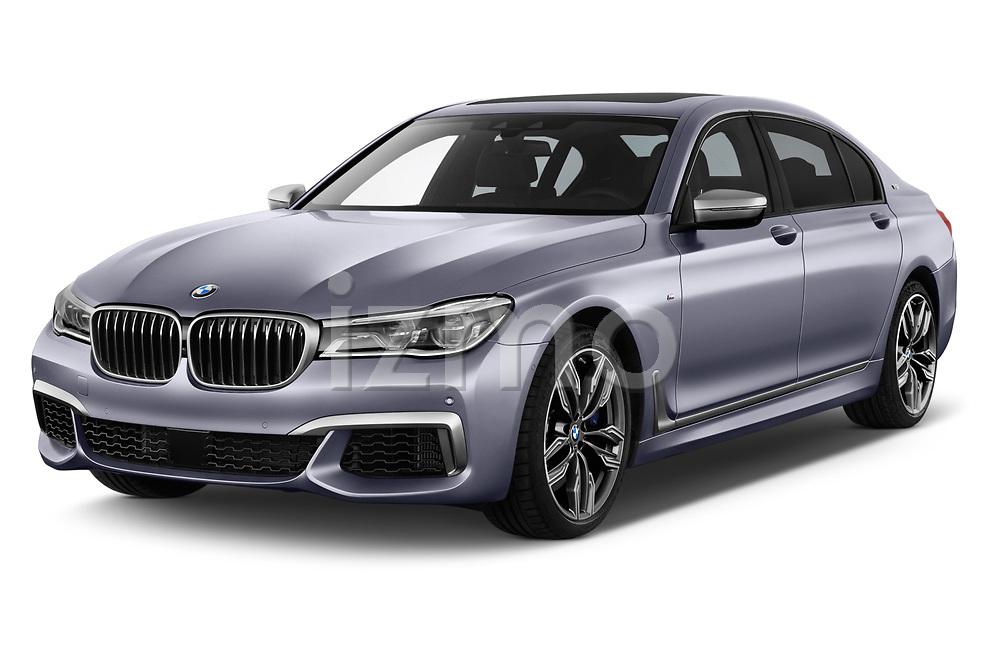 2018 BMW 7 Series M760 Li 4 Door Sedan angular front stock photos of front three quarter view