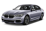 2018 BMW 7 Series M760 Li 4 Door Sedan angular front stock photos of front three quarter view