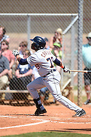 Detroit Tigers outfielder Samuel Crafort (79) during a minor league spring training game against the Houston Astros on March 21, 2014 at Osceola County Complex in Kissimmee, Florida.  (Mike Janes/Four Seam Images)