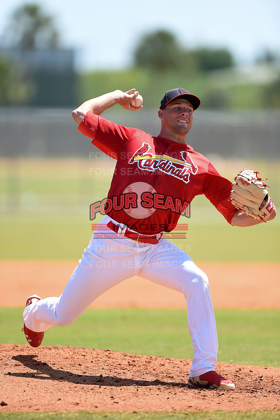St. Louis Cardinals pitcher Bryan Dobzanski (36) during a minor league spring training game against the Miami Marlins on March 31, 2015 at the Roger Dean Complex in Jupiter, Florida.  (Mike Janes/Four Seam Images)