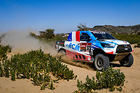 3rd January 2021, Jeddah, Saudi Arabia;  #322 Chabot Ronan (fra), Pillot Gilles (fra), Toyota, Overdrive Toyota, Auto, action during the 1st stage of the Dakar 2021 between Jeddah and Bisha, in Saudi Arabia on January 3, 2021 -