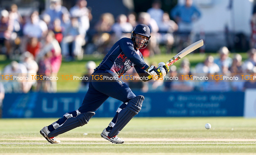 George Munsey bats for Kent during Kent Spitfires vs Sussex Sharks, Vitality Blast T20 Cricket at The Spitfire Ground on 18th July 2021