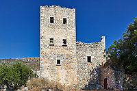 An old tower in the village Vrykion in Mani, Greece