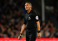 27th September 2021;  Selhurst Park, Crystal Palace, London, England; Premier League football, Crystal Palace versus Brighton & Hove Albion: Referee Andre Mariner