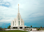 The Church of Jesus Christ of Latter Day Saints, LDS, or Mormon, Temple, Rexburg, located next to the Brigham Young University, Idaho Campus in the city of Rexburg.