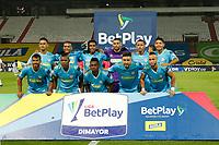 MANIZALES- COLOMBIA,  05-04-2021.Jugadores de Jaguares de Córdoba  posan para una foto previo al partido por la fecha 17 entre Once Caldas  y Jaguares de Córdoba como parte de la Liga BetPlay DIMAYOR 2021 jugado en el estadio Palogrande de la ciudad de Manizales. / Players of Jaguares de Cordoba  pose to a photo prior Match for the date 15 between  Once Caldas and Jaguares de Cordoba as part of the BetPlay DIMAYOR League I 2021 played at Palogrande stadium in Bogota city. Photo: VizzorImage /John Jairo Bonilla / Contribuidor