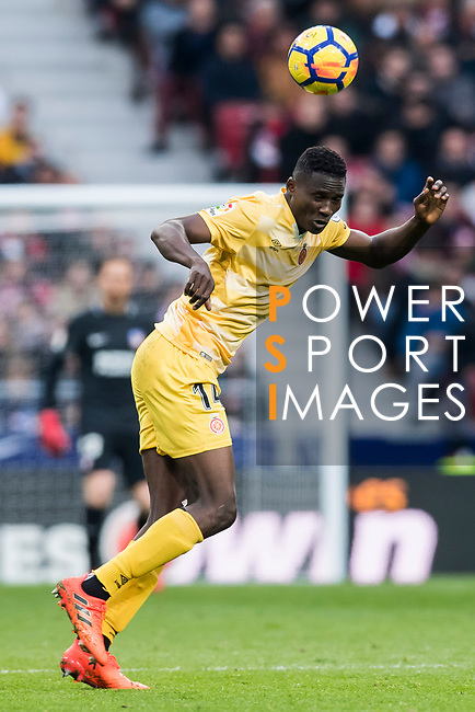 Michael Olunga Ogada of Girona FC in action during the La Liga 2017-18 match between Atletico de Madrid and Girona FC at Wanda Metropolitano on 20 January 2018 in Madrid, Spain. Photo by Diego Gonzalez / Power Sport Images