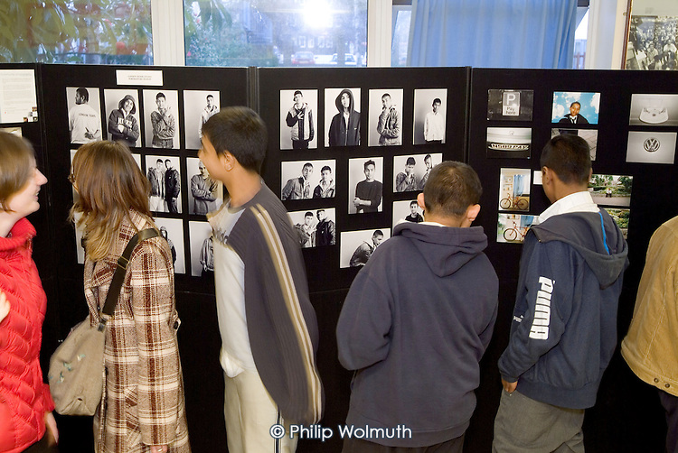 2005: Photoworks Westminster: opening of London Tigers exhibition at Elgin Estate Community Hall.