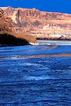 Rare deep freeze puts beautiful ice on the Colorado River near Moab, Utah