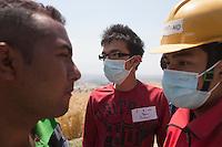 "Volunteers from ""I to WE""  at a  hospital at Kathmandu, Nepal. May 05, 2015"