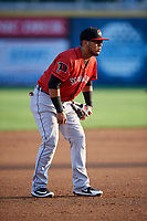Erie SeaWolves third baseman Isaac Paredes (18) during a game against the Harrisburg Senators on August 29, 2018 at FNB Field in Harrisburg, Pennsylvania.  Harrisburg defeated Erie 5-4.  (Mike Janes/Four Seam Images)