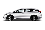 Car Driver side profile view of a 2016 Honda Civic Tourer Executive 5 Door Wagon Side View