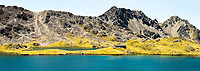 Pristine Lake Angelus with Angelus Hut, Nelson Lakes National Park, South Island, New Zealand, NZ