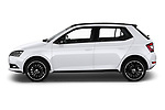 Car Driver side profile view of a 2018 Skoda Fabia Monte-Carlo 5 Door Hatchback Side View